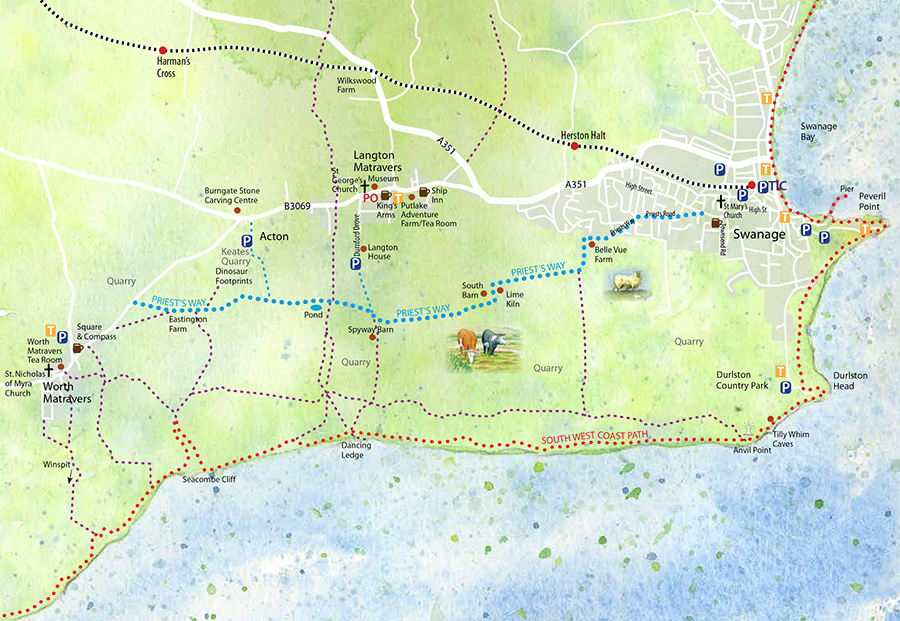 Priest's Way route map